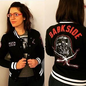 Star Wars dark side varsity style bomber jacket s